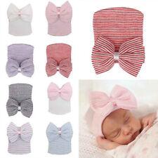 Hospital Cap Comfy Bowknot Beanie Hat Warm Cute Newborn Baby Toddler Girl