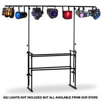 American Audio DJ-MTS 4 4ft Adjustable Mobile DJ Stand + Lighting Bar 17KG ADJ