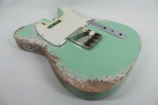 MJT Official Custom Vintage Age Nitro Guitar Body By Mark Jenny VTT Surf Green