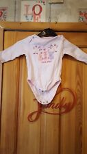 Baby Girls Long Sleeved Vest Top Size 6/9 Months