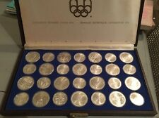 1976 Canada $5 & $10 Olympic Coin Set Collection, BU Sterling Silver 28 pieces