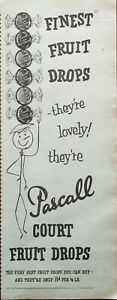 Pascall Court Fruit Drops, Finest Fruit Drops They're Lovely! Vintage Advert1956
