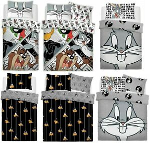 Looney Tunes Duvet Quilt Cover Set & Pillowcase Single Double Kids Bedding Gift