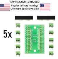 5x Nano Terminal Adapter for Arduino Nano V3.0 AVR ATMEGA328P-AU Module Board