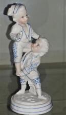 19th C Vion & Baury Porcelain 2 Boy Children Playing Bisque Porcelain Figurine