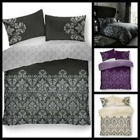 Luxurious Designer Empire Damask Duvet Cover Set Bedding Set with Pillow Cases