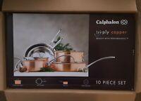 Calphalon Tri-Ply Copper Clad 10 Piece Cookware Set- New