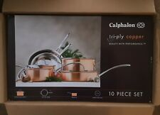 Calphalon Tri-Ply Copper Clad 10 Piece Cookware Set- New