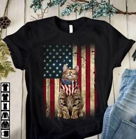 Cat Love America T shirt S-5XL