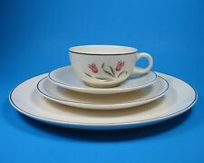 Salem TULIP TIME Place Setting Dinner Plate Cup Saucer Salad USA Pink Tulips