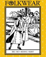 Folkwear Big Sky Riding Skirt Western Cowgirl Split Skirt Sewing Pattern 231