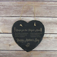 Personalised Birthday Home Gift Recipe of Perfect Mum Slate Hanging Sign Plaque