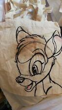 Disney Canvas Tote Bag Bambi -Face  -  New Design