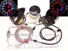 RSR Abgastemperatur Anzeige 52 + ALARM Stepper Smoke Zusatz Instrument EGT Turbo