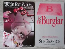 1982-85 Sue Grafton A is for Alibi B is for Burglar Hardcover w/dj Books