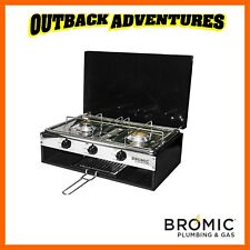 BROMIC LIDO JUNIOR DELUXE 2 BURNER STOVE WITH GRILL COMPACT CAMPING COOKING