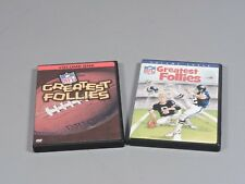 NFL Greatest Follies Volumes One and Three- Viewed Once