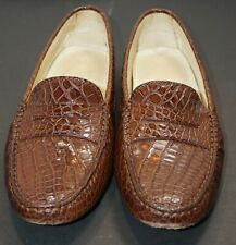 Beautiful J.P. Tod's brown alligator loafers Size 7 authentic