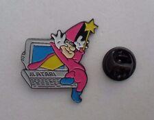 Video Game Atari WIZARD Rare GREY PC Vintage Promo Enamel METAL PIN BADGE Pins