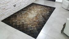 New Cowhide Rug Leather. Animal Skin Patchwork Area Carpet Brindle.