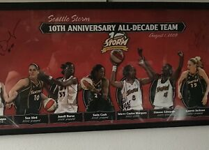 2010 Seattle Storm Autographed All Decade Team Poster