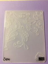 stampin up Big Shot sizzix elegant vines flower corner embossing folder