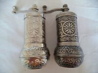 2 x Authentiqe Handmade AcarTurkish Coffee, Pepper,Salt Grinder Antique Ottoman