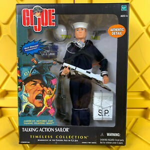 """GI Joe Talking Action Sailor Timeless Collection 12"""" Diecast Accessories 2002"""