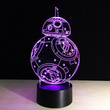 3D Star Wars Space Night Light Color Changing LED Desk Table Light Lamp US Ship
