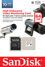 Genuine Sandisk 64gb High Endurance Micro SDXC Card Class 10 For Video Monitorin