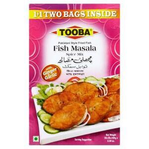 """NEW"" TOOBA FISH SPICE MIX MASALA used as Rub for  Fish or Lamb(50G 2 PACKS)100G"