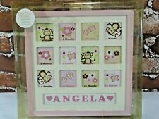 One Year Baby 12 Pictures Frame - Girls - Customize~baby room~frame~A.D Sutton