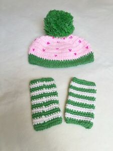 Handmade Baby Girl Ice Cream Sundae with Leg Warmer Set for newborn photo prop