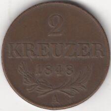 More details for 1848 austria 2 kreuzer   coins   european   pennies2pounds