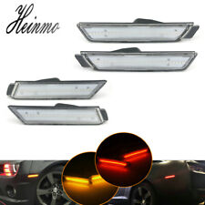 For Chevy Camaro 2010-2015 Clear Lens Front & Rear Side Marker LED Light Lamps