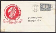 Canada 1948 Responsible Government First Day Cover Toronto to Australia