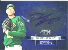 2012 BOWMAN STERLING DANIEL STRAILY PROSPECTS ON-CARD ROOKIE AUTOGRAPH ATHLETICS