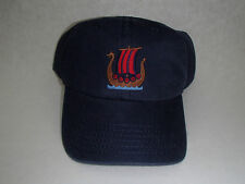 Norwegian Viking Ship Baseball Hat Cap Embroidered Navy Cotton #CP4NAV
