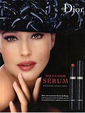 PUBLICITE advertising   2010 DIOR  maquillage & Monica Bellucci rouge à lèvres