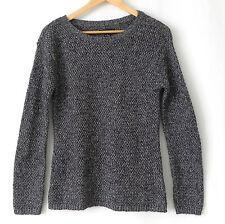 Tribal Sweater Charcoal/Silver Metallic Size M