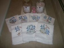 Blue Bird's Vintage Designs -Days of the Week.Embroidered Kitchen Towel Set