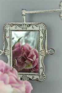 Mirror Bathroom wall mounted Ornate French Grey Metal tilting Vintage design