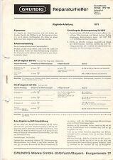 Grundig Reparaturhelfer Grundchassis RC 500 RTV 700 Service Anleitung  B1282