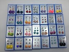 Joblot Wholesale Multicolour Earrings Ear Stud 10 Box 30 Pairs