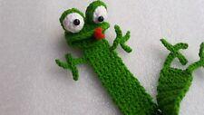 Frog Bookmark, Crochet frog bookmark, Crochet bookmarks