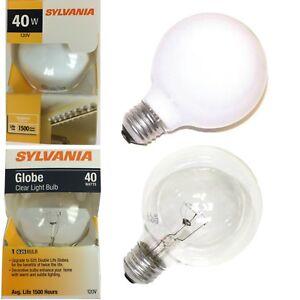 Sylvania INCANDESCENT DECORATIVE GLOBE LAMP G25, 40 WATT, 120 VOLTS, MEDIUM BASE