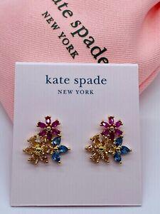 Kate  Spade Color  Zircon Stud Earrings