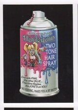 2017 Wacky Packages 50th Anniversary red ludlow back Harlequin hair spray 23/25