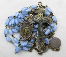 "† HTF VINTAGE ""VIRGIN OF THE SMILE"" & ""ST THERESE OF CHILD JESUS"" BLUE ROSARY †"