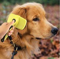 NEUHEIT! Selbstreinigende Hundebürste / Katzenbürste Fell mittellang oder kurz
